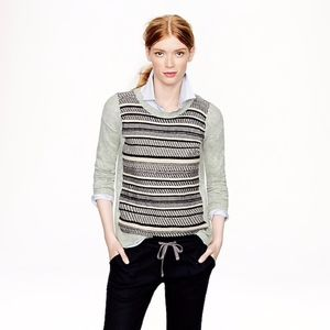 J. Crew Textured Stripe Sweater in Gray